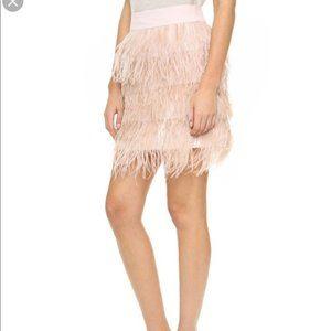 Club Monaco Pink Feather Fringe Mini Skirt Size 10